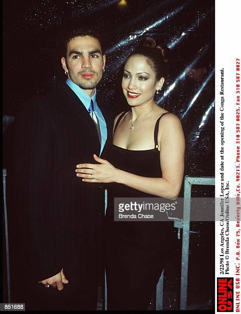 Los Angeles Ca Jennifer Lopez and date at the opening of the Conga Restaurant