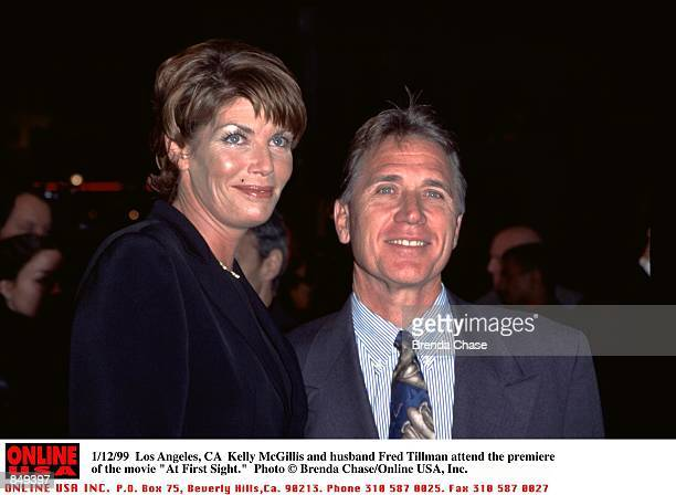 Los Angeles CA Kelly McGillis and husband Fred Tillman attend the premiere of the movie At First Sight