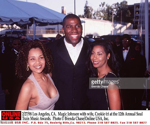 Los Angeles CA Magic Johnson with wife Cookie at the 12th Annual Soul Train Music Awards