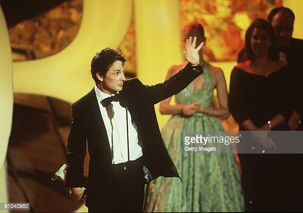 Los Angeles Ca Michael J Fox At The Golden Globe Awards