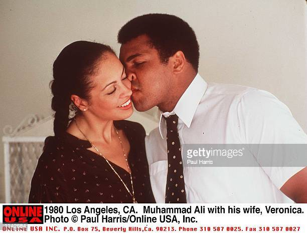 Los Angeles CA Muhammad Ali with his 3rd wife Veronica Porche before his last fight with Larry Holmes Photo by Paul Harris/Online USA Inc