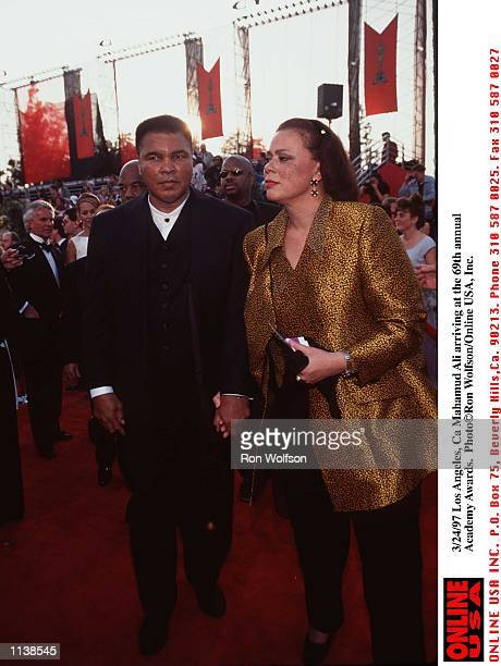 Los Angeles Ca Muhammad Ali with his wife Lonnie at the 69th annual Academy Awards Photo by Ron Wolfson/Online USA Inc