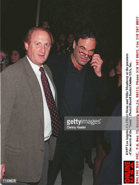 Los Angeles Ca Oliver Stone and Mike Meadovoy at the prmeire of The Saint