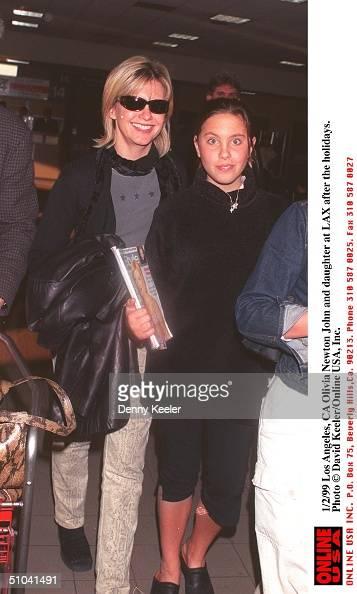 Los Angeles, Ca Olivia Newton John and daughter Chloe