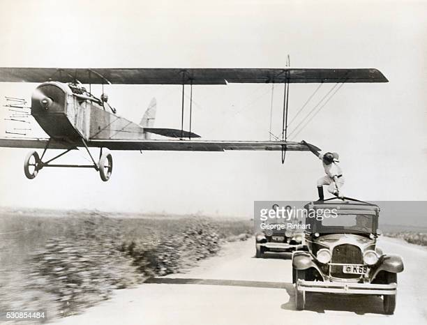 6/1/1927 Los Angeles CA One of the most spectacular as well as daring tricks was performed when Al Wilson daring aerial stunt performer leaped to a...