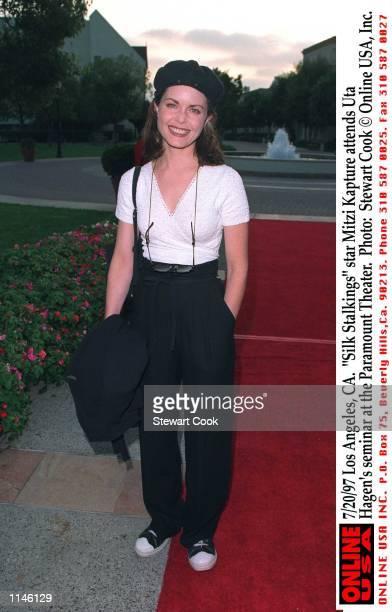 Los Angeles CA Silk Stalkings star Mitzi Kapture attends Uta Hagen's seminar at the Paramount Theater