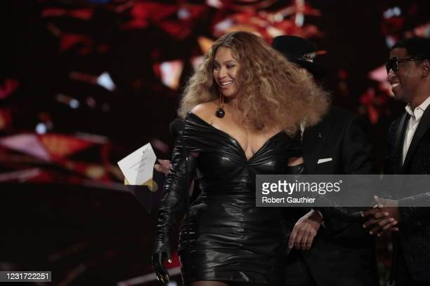 Los Angeles, CA, Sunday, March 14, 2021 - Beyonce makes History with the Best E&B Performance winning 28 Grammys, more that any female or male...