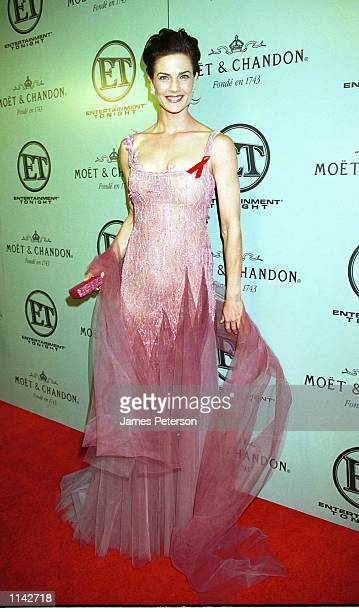 Los Angeles CA Terry Farrell enters the Emmy after party at Cicada restaurant Photographed by James Peterson/Online USA Inc