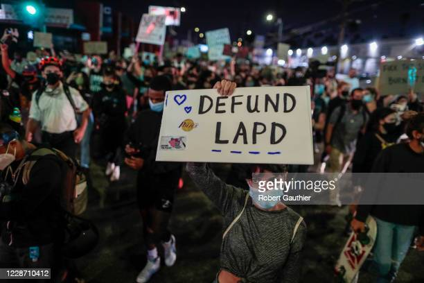Los Angeles, CA, Thursday, September 24, 2020 - People protest the Kentucky grand jury decision in the case of Breonna Taylors death by Louisville...