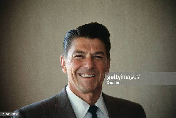 Closeups of Ronald Reagan Republican candidate for Governor of California