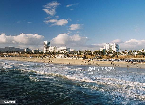 Los Angeles California Coastal beach ocean city scene