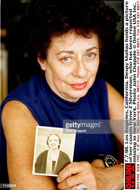 7798 Los Angeles California Despy Mallas holds a picture of her cousin Irene Z Silverman who is missing in New York