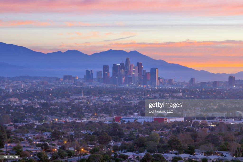 Los Angeles, California Downtown : Foto de stock