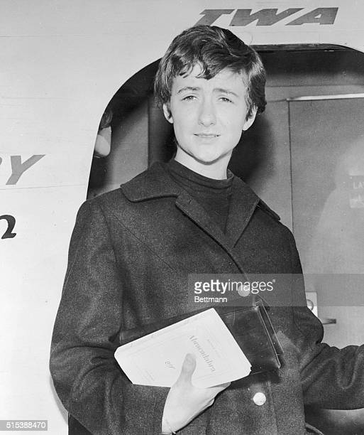 Los Angeles California Mademoiselle Francoise Sagan whose novel written when she was seventeen became an international bestseller arrived in Los...