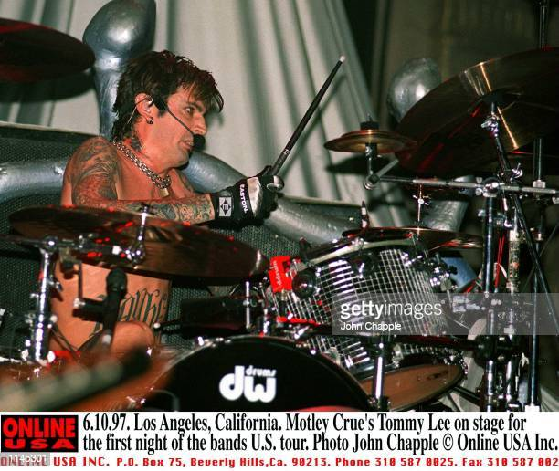 Los Angeles California Motley Crue on the first night of their US tour pictured is Tommy Lee