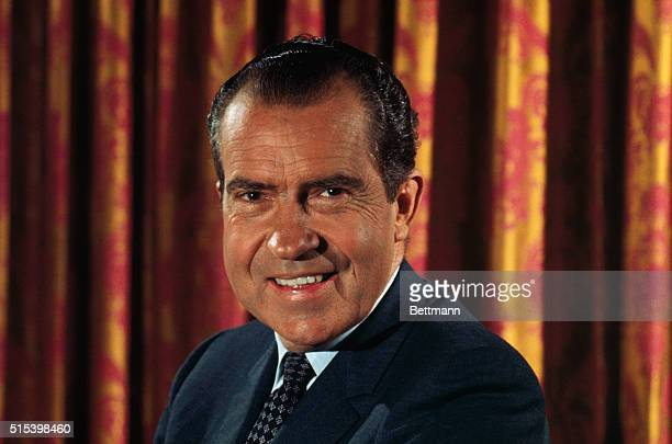 Los Angeles, California: Nixon press conference at the Century Plaza Hotel.