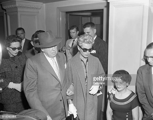 Los Angeles California On their way to the coroner's inquest into the death of Johnny Stompanato are Mrs Mildred Turner mother of screenstar Lana...