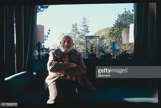 Los Angeles California Photographer Ansel Adams sits at a window in his home near Los Angeles