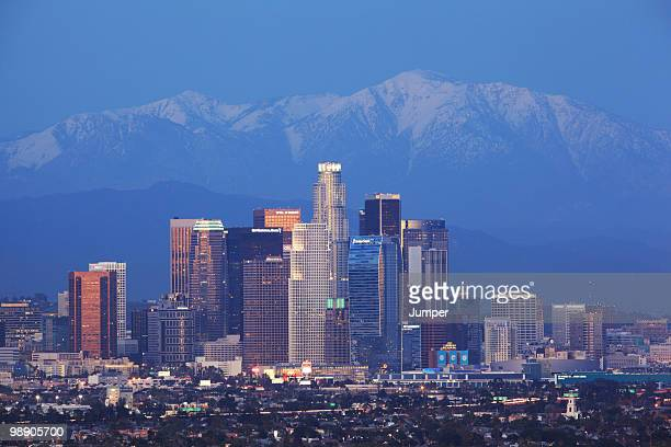 los angeles, california - san gabriel mountains stock pictures, royalty-free photos & images