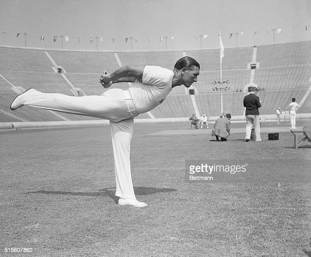 Los Angeles, California: Romeo Neri, gymnast of the Italian Olympic team. Ca. August 10, 1932.