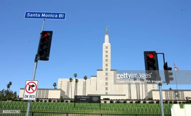 Los Angeles California Temple on Santa Monica Boulevard