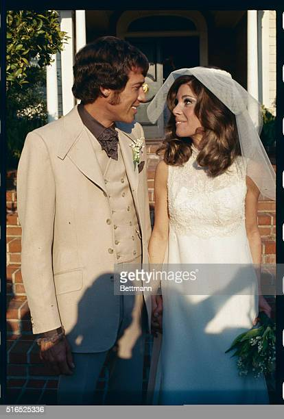 Los Angeles California The groom David Lee Burk and the bride Melissa Ann Montgomery the daughter of Dinah Shore are shown at their wedding