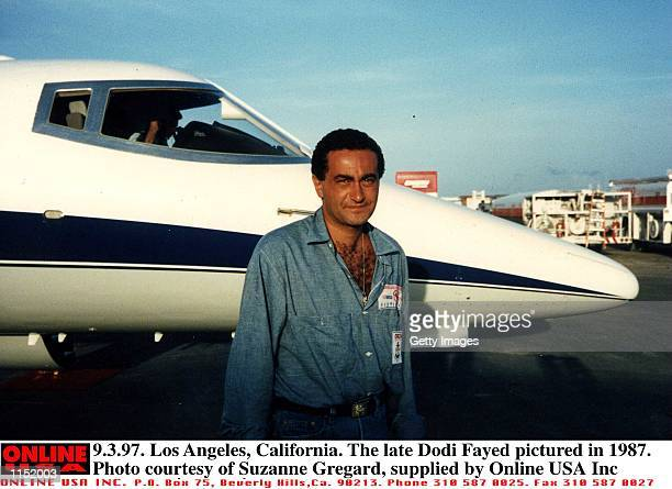 9397 Los Angeles California The late Dodi Fayed pictured in 1987