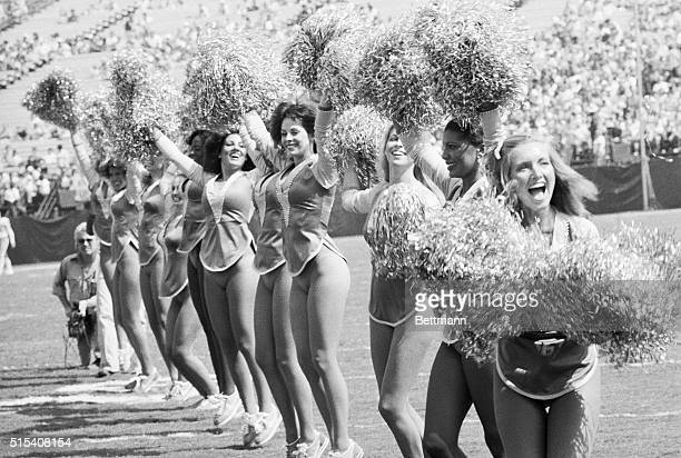 Los Angeles California The Los Angeles Rams Cheerleaders show off their new uniforms after fabric used in the old ones became unavailable The new...