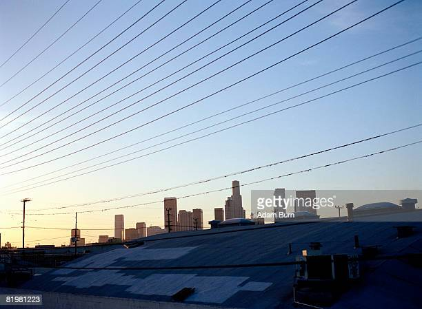 los angeles, california, united states of america, sunrise over downtown skyline - adam la stock pictures, royalty-free photos & images
