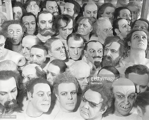 Los Angeles, California: Wax faces. Making Faces For A Living. L. E. Case who is shown above, , of Los Angeles, is perhaps this country's most famed...