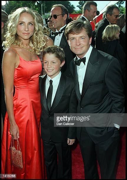09/12/99 Los Angeles CAMichael J Fox and family arrive at the 51st Annual primetime EMMY Awards The awards were held at the Shrine Auditorium Picture...