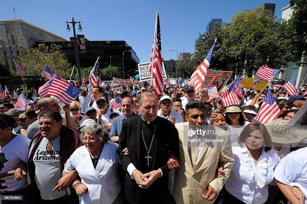 Activists Across U.S. March For Immigration Reform : Foto jornalística