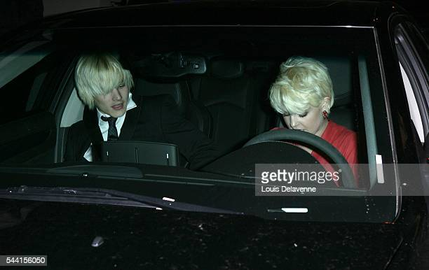 Los Angeles Celibrities at the Nobu restaurant in West Hollywood with DJ Luke Worrall and Kelly Osbourne ID revpix91208121