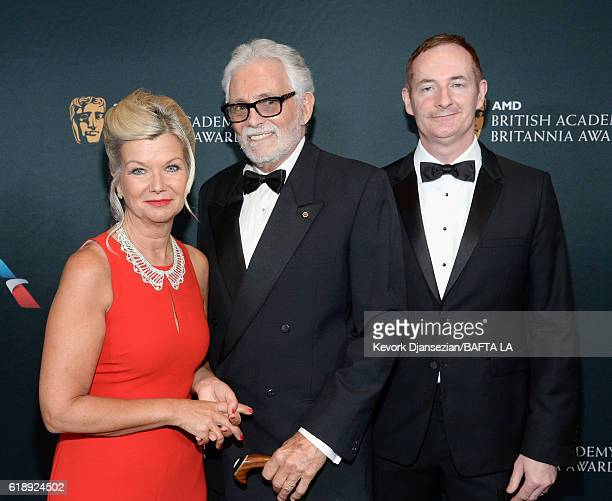 BAFTA Los Angeles CEO Chantal Rickards actor David Hedison and BAFTA LA Chairman of the Board Kieran Breen attend the 2016 AMD British Academy...