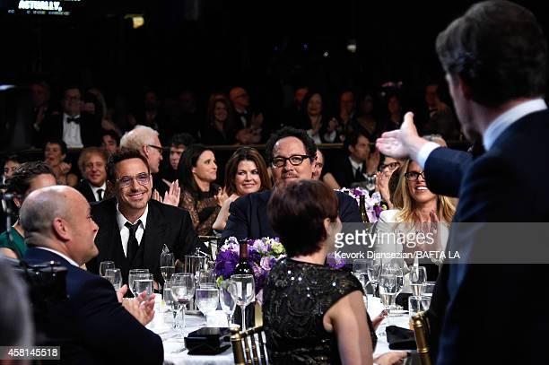 BAFTA Los Angeles Chairman of the Board of Directors Nigel Daly wearing Burberry producer Susan Downey honoree Robert Downey Jr actor/director Jon...