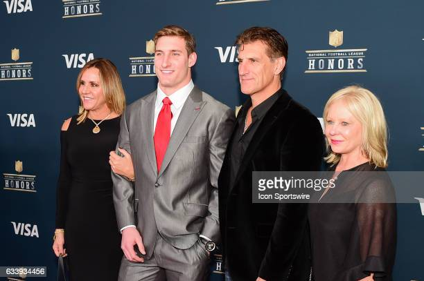 Los Angeles Charger Joey Bosa and family on the Red Carpet during the NFL Honors Red Carpet on February 4 2017 at the Worthan Theater Center Houston...