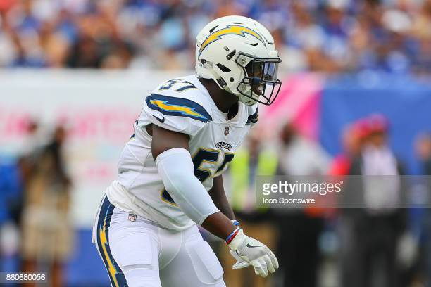 Los Angeles Chargers inside linebacker Jatavis Brown during the National Football League game between the New York Giants and the Los Angeles...