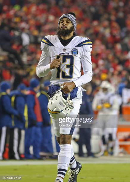 Los Angeles Chargers wide receiver Keenan Allen before an NFL game between the Los Angeles Chargers and Kansas City Chiefs on December 13 2018 at...