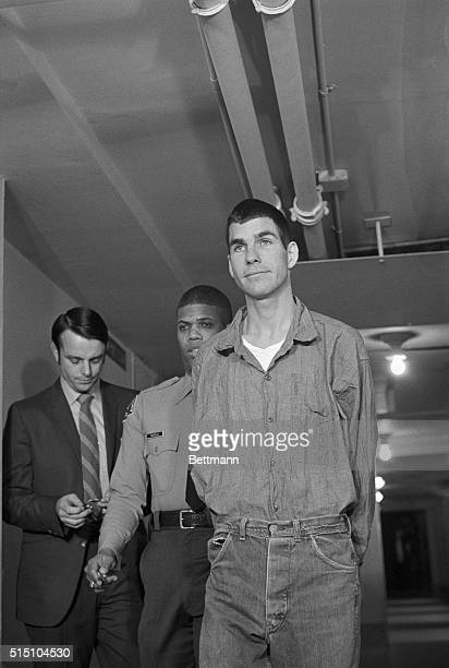 Los Angeles: Charles Watson arrives for his arraignment on charges of conspiracy and murder in the Tate-LaBianca slayings. Watson was arraigned on...