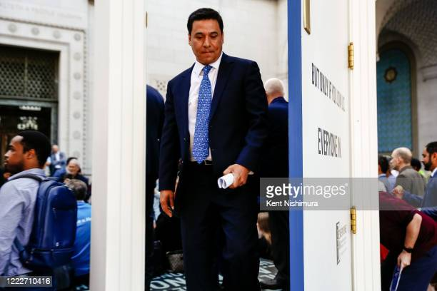 Los Angeles City Council member Jose Huizar after a press conference with housing advocates in advance of the City Council's final vote on the...