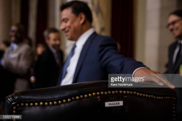 Los Angeles City Council member Jose Huizar before the Los Angeles City Council votes on imposing a new fee on development to raise money for...