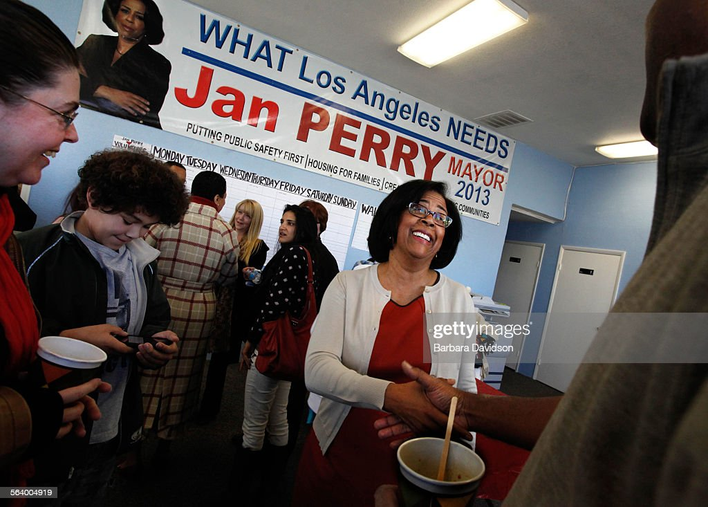LOSANGELES.ME.0113 Los Angeles City Councilwoman Jan Perry, struggling to remain relevant in a mayor : News Photo