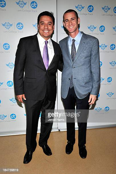 Los Angeles City Couniclman Jose Huizar and College Track CEO David Silver attend the unveiling of new afterschool facility at Boyle Heights City...