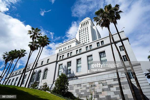 los angeles city hall, - town hall government building stock pictures, royalty-free photos & images