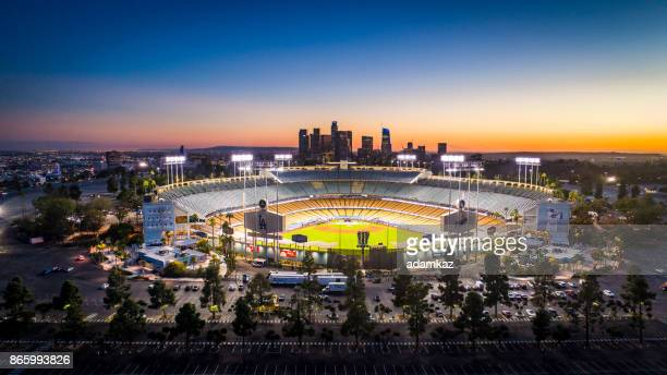 Los Angeles City Skyline with Dodger Stadium