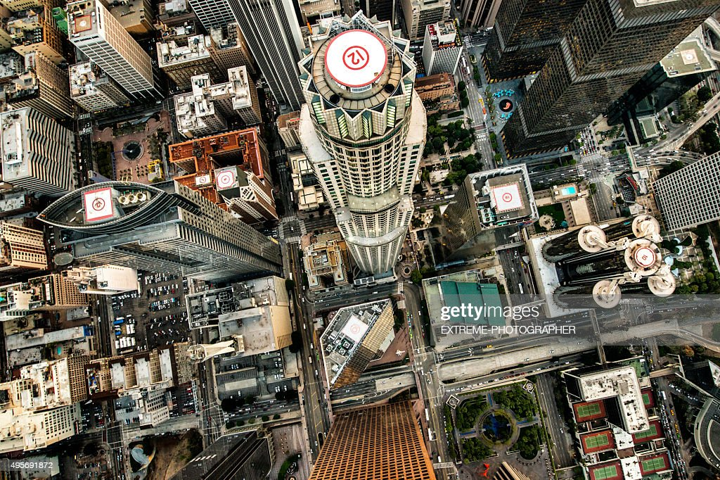 Los Angeles city tallest buildings : Stock Photo