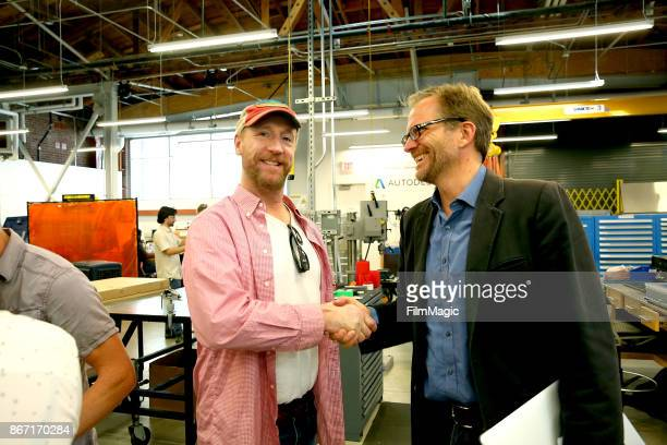 Los Angeles Cleantech Incubator CEO Matt Petersen welcomes Matt Walsh to the Advanced Prototyping Center at La Kretz Innovation Campus for Walsh's...