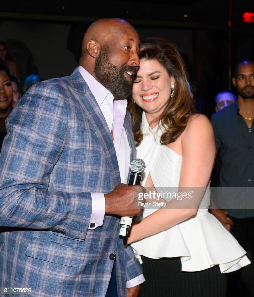 Los Angeles Clippers Assistant Coach Mike Woodson and actress Tanya Thicke attend the Coach Woodson Las Vegas Invitational red carpet and pairings...