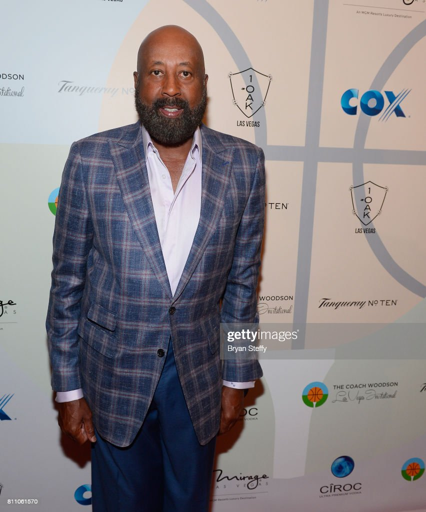Los Angeles Clippers Assistant Coach Mike Woodson arrives at the Coach Woodson Las Vegas Invitational red carpet and pairings gala at 1 OAK Nightclub at The Mirage Hotel & Casino on July 8, 2017 in Las Vegas, Nevada.
