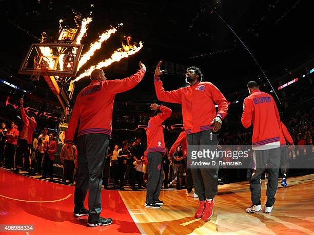 Los Angeles Clippers before the game against the Golden State Warriors at STAPLES Center on November 19 2015 in Los Angeles California NOTE TO USER...